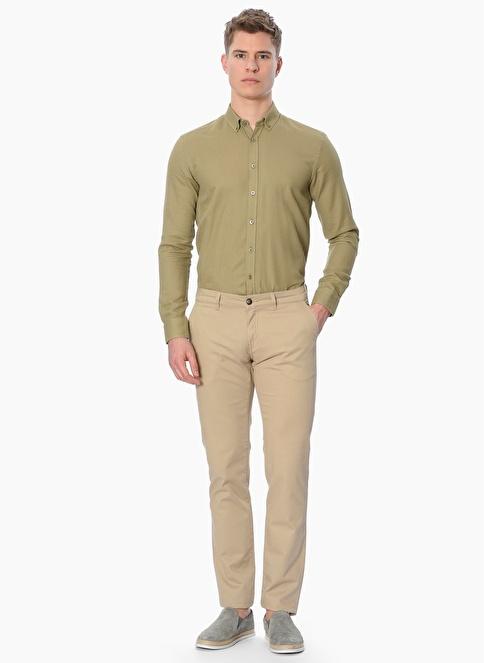 George Hogg Slim Fit Uzun Kollu Gömlek Yeşil